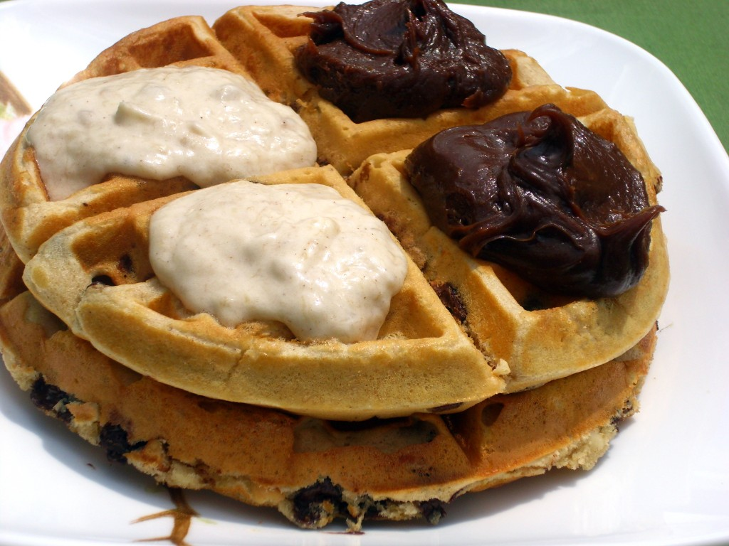 Peanut-Butter-Chocolate-Chip-Waffles