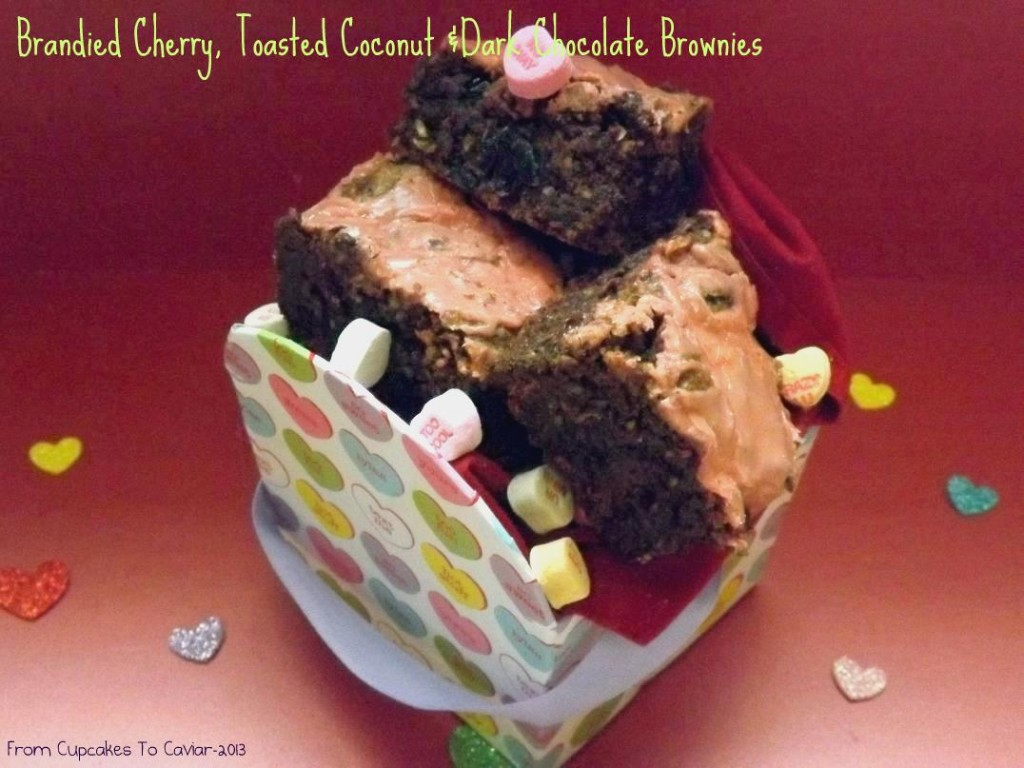 Brandied Cherry, Toasted Coconut & Dark Chocolate Brownies