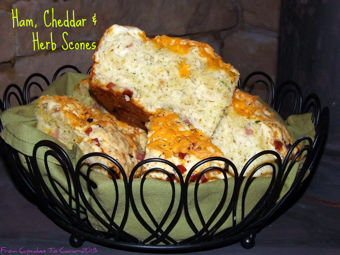 Ham, Cheddar &amp; Herb Scones