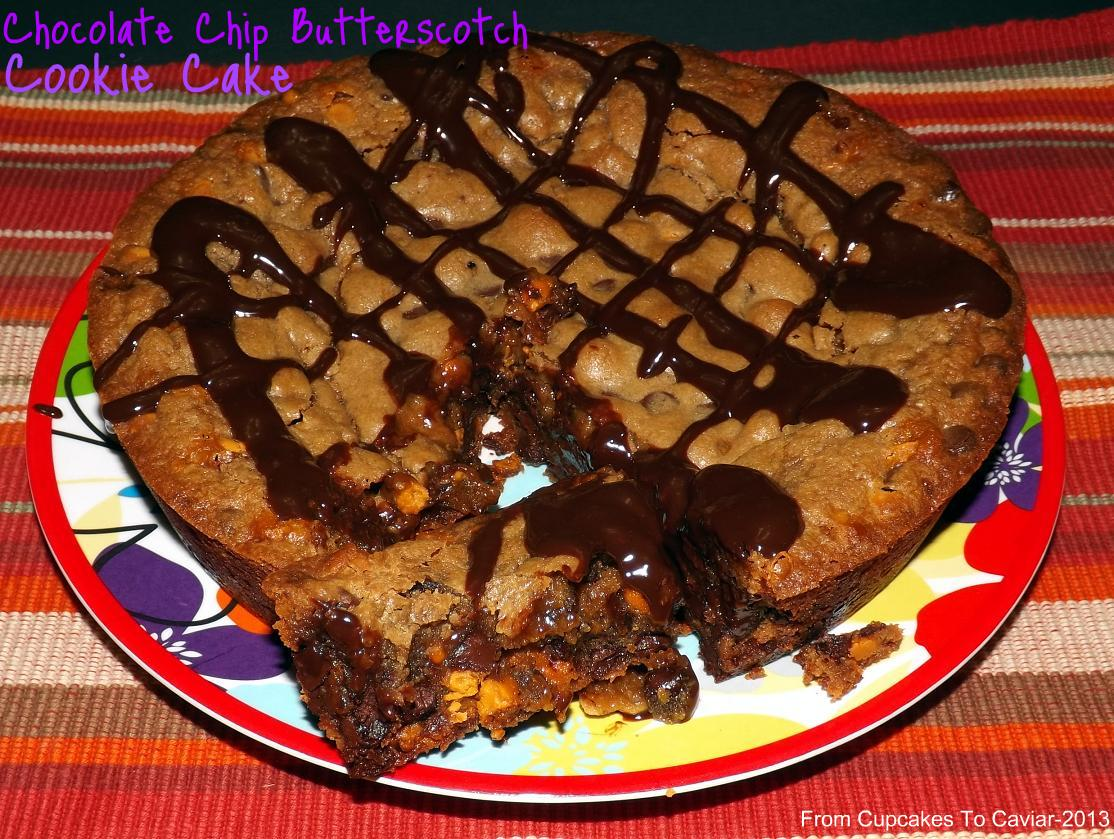 Chocolate Chip Butterscotch Cookie Cake