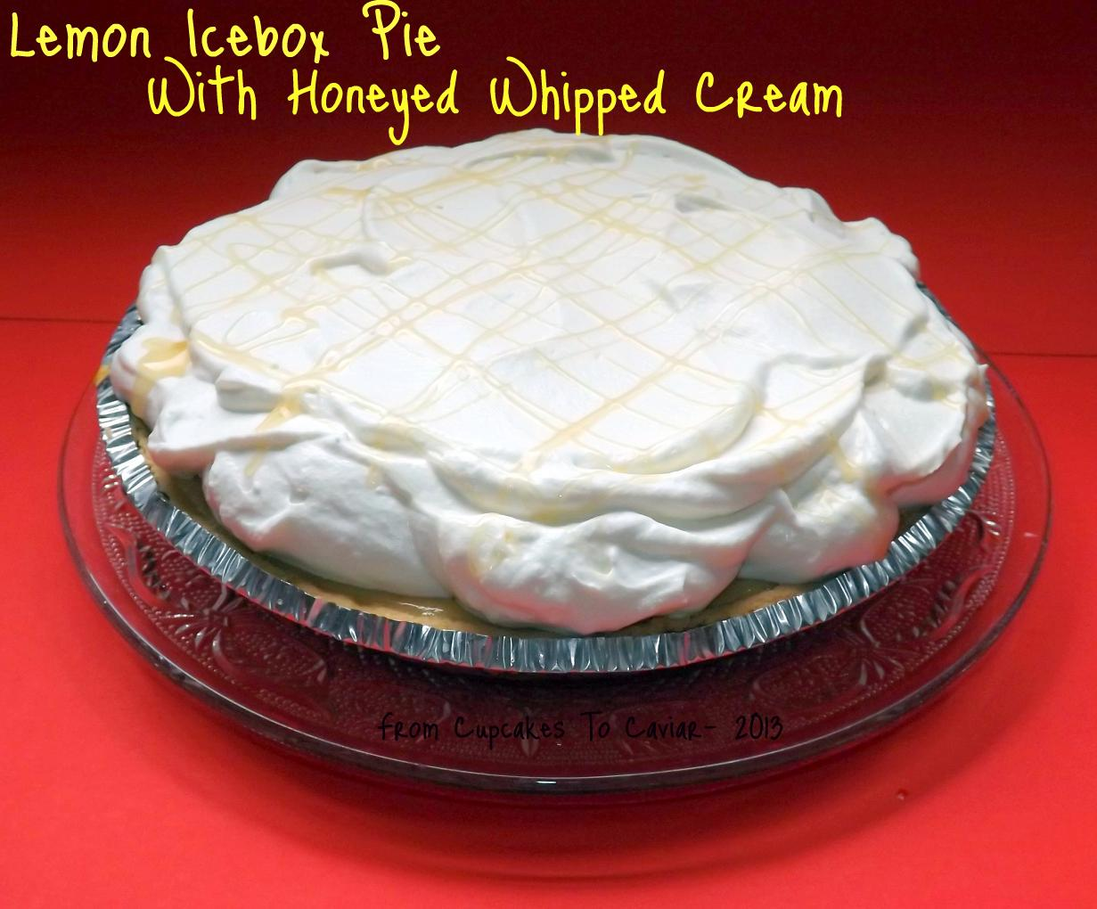 Lemon Icebox Pie With Honeyed Whipped Cream