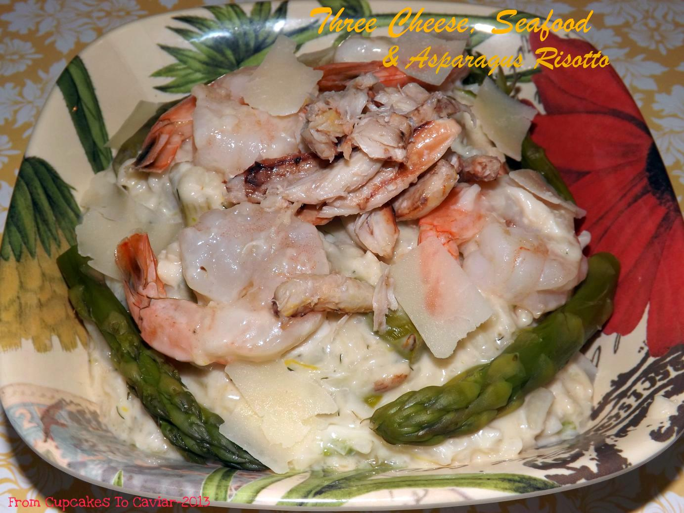 Three Cheese, Seafood & Asparagus Risotto