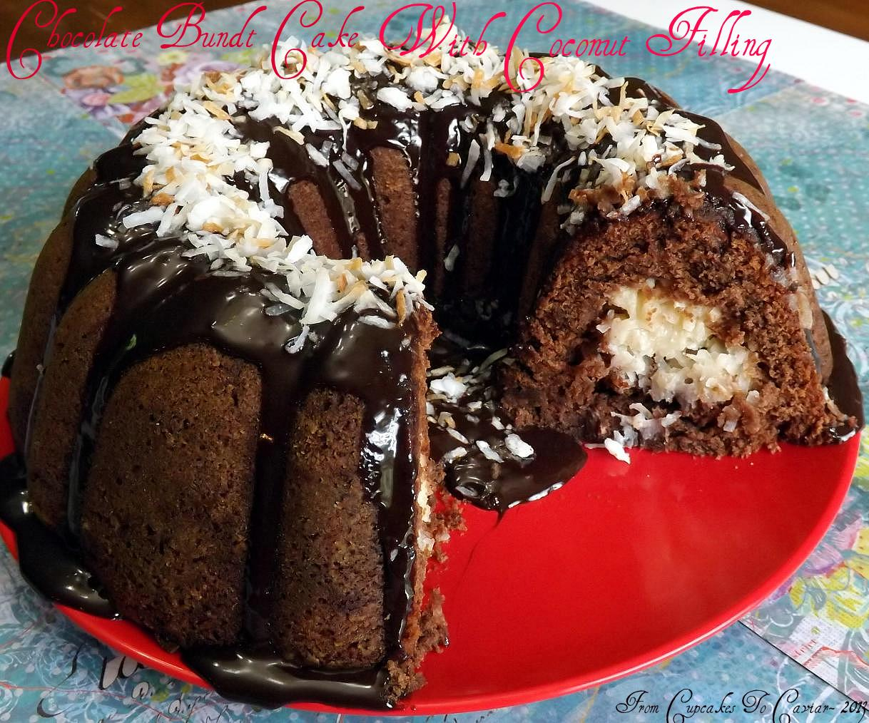 Chocolate Bundt Cake With A Creamy Coconut Filling