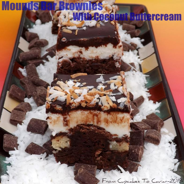Mounds Bar Brownies With Coconut Buttercream