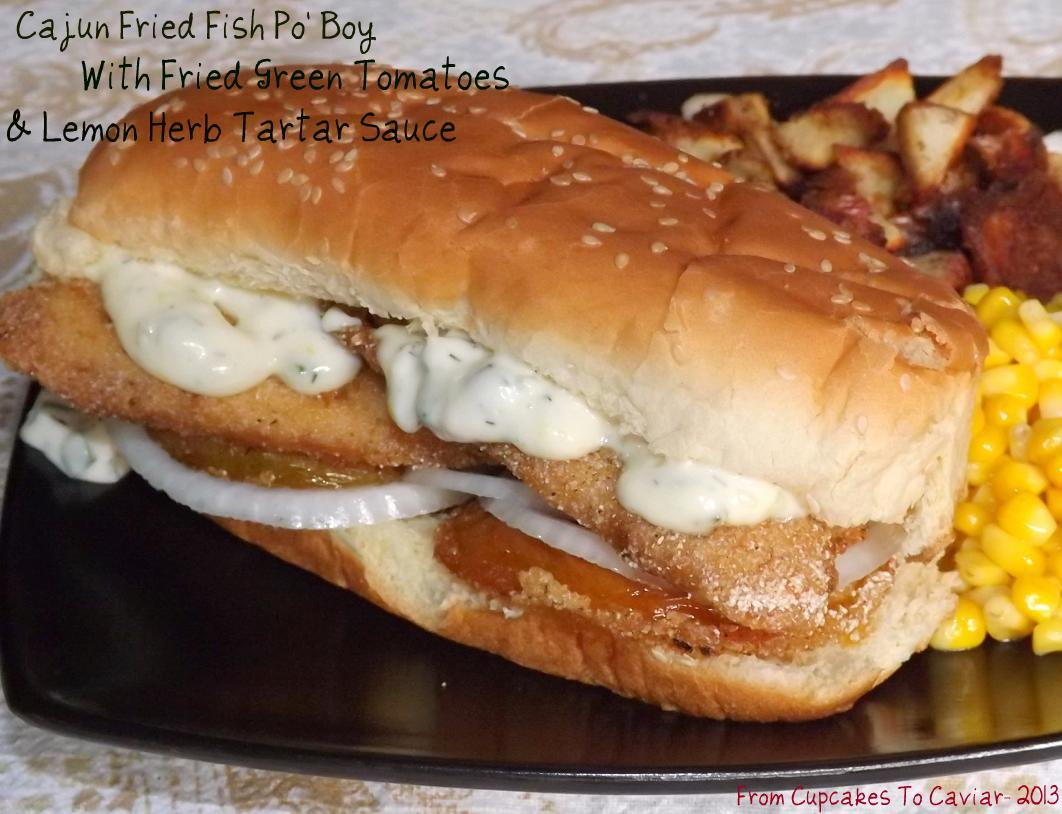 Cajun Fried Fish Po' Boys