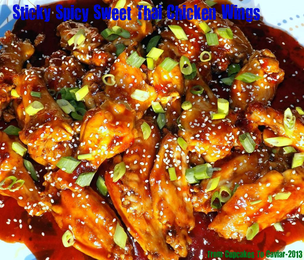 Sticky Spicy Sweet Thai Chicken Wings