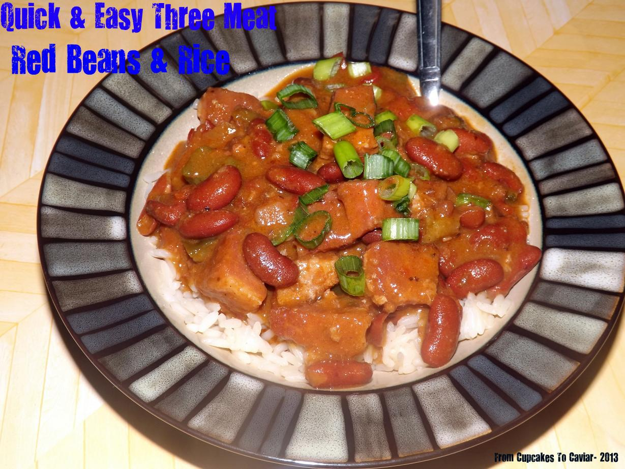 Quick & Easy Three Meat Red Beans & Rice