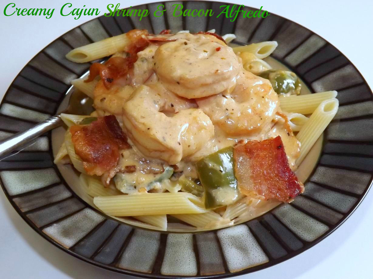 Creamy Cajun Shrimp & Bacon Alfredo