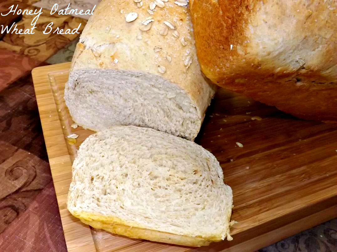Honey Oatmeal Wheat Bread