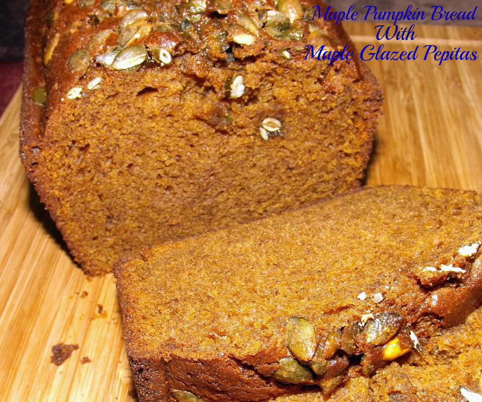 Maple Pumpkin Bread With Maple Glazed Pepitas