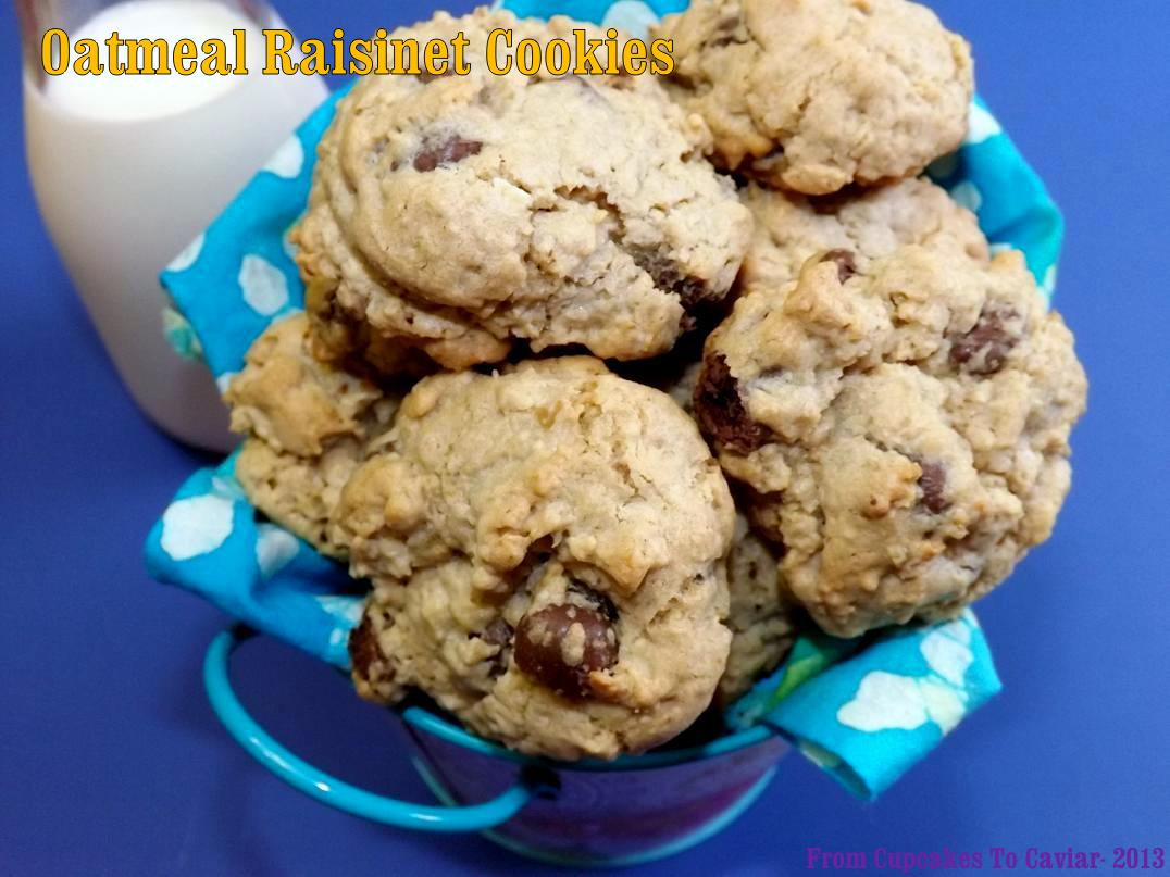 Oatmeal Raisinet Cookies