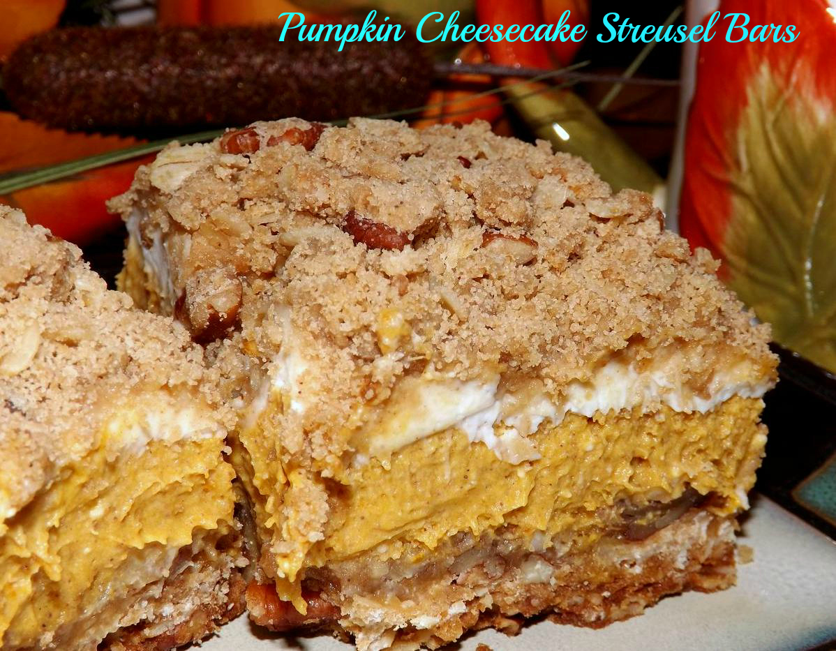 Pumpkin Cheesecake Streusel bars2