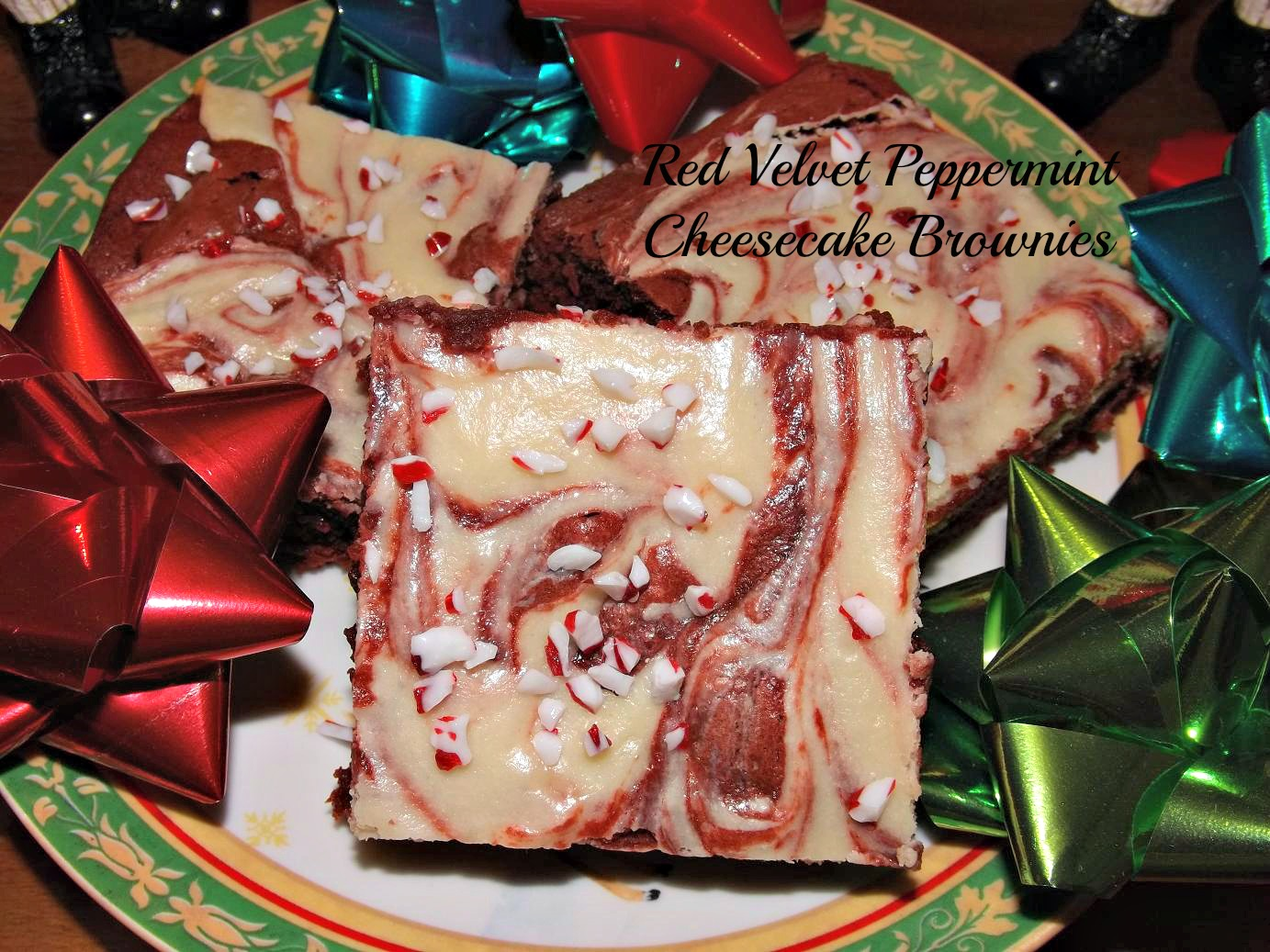 Red Velvet Peppermint Cheesecake Brownies