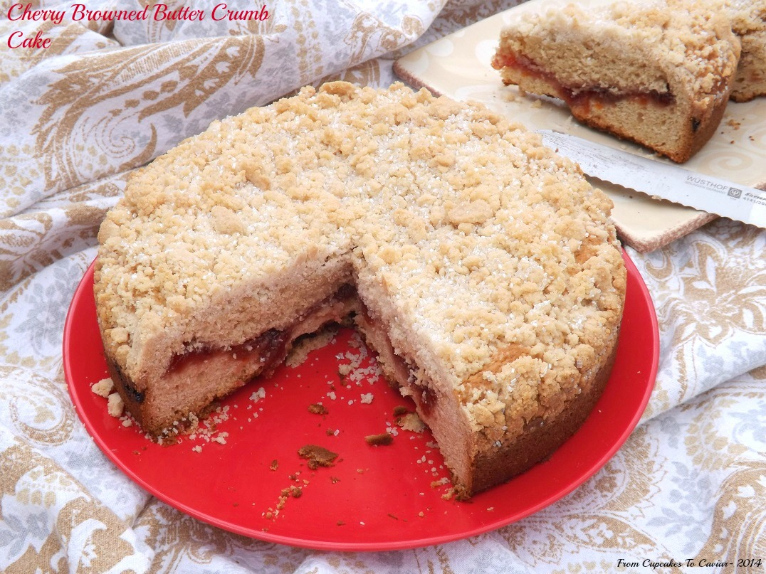 Cherry Browned Butter Crumb Cake