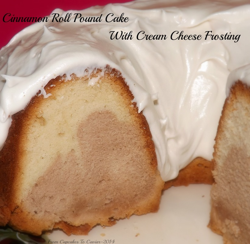 Cinnamon Roll Pound Cake With Cream Cheese Frosting