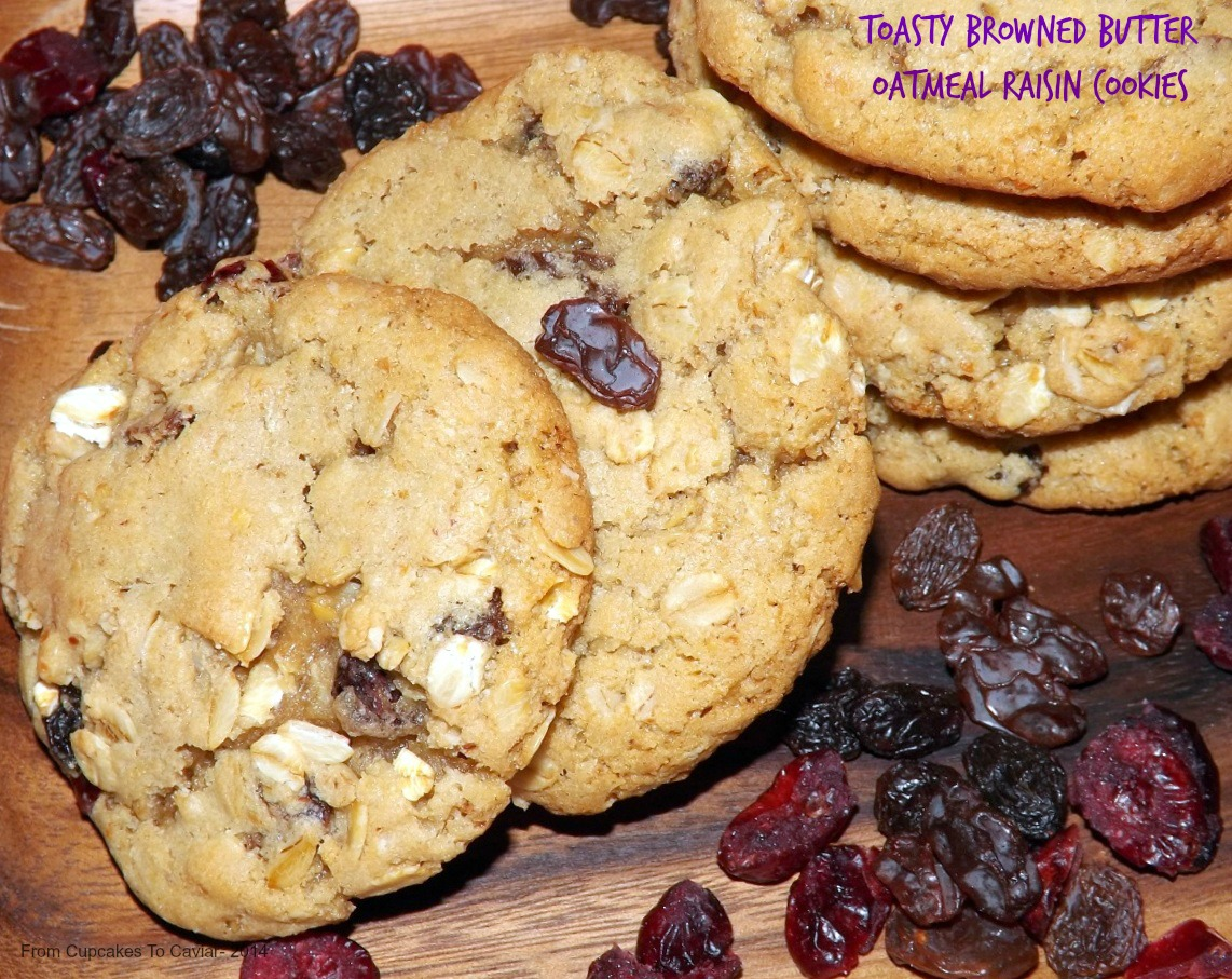 Toasty Browned Butter Oatmeal Raisin Cookies