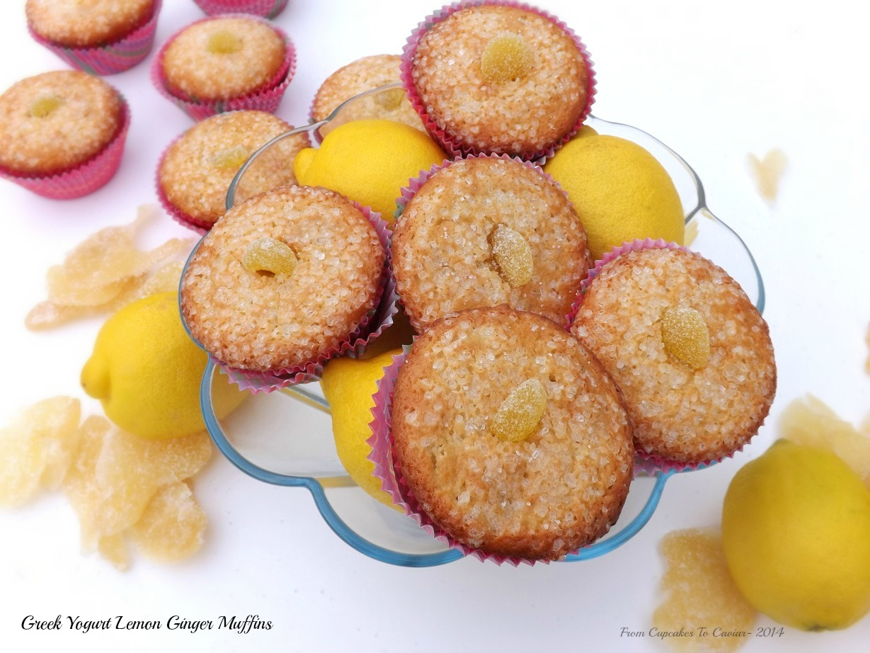 Greek Yogurt Lemon Ginger Muffins