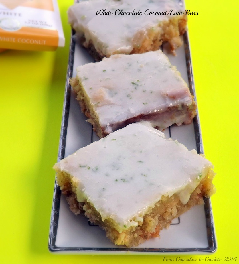 White Chocolate Coconut/Lime Bars