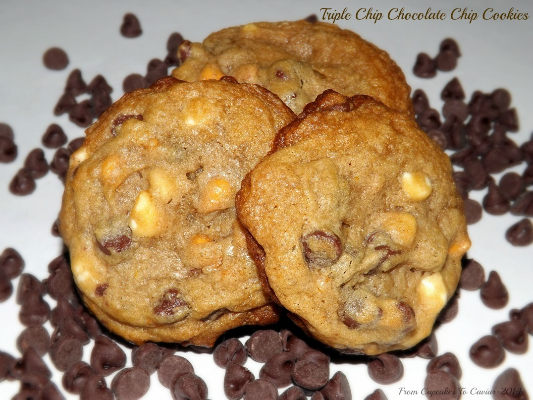Triple Chip Chocolate Chip Cookies