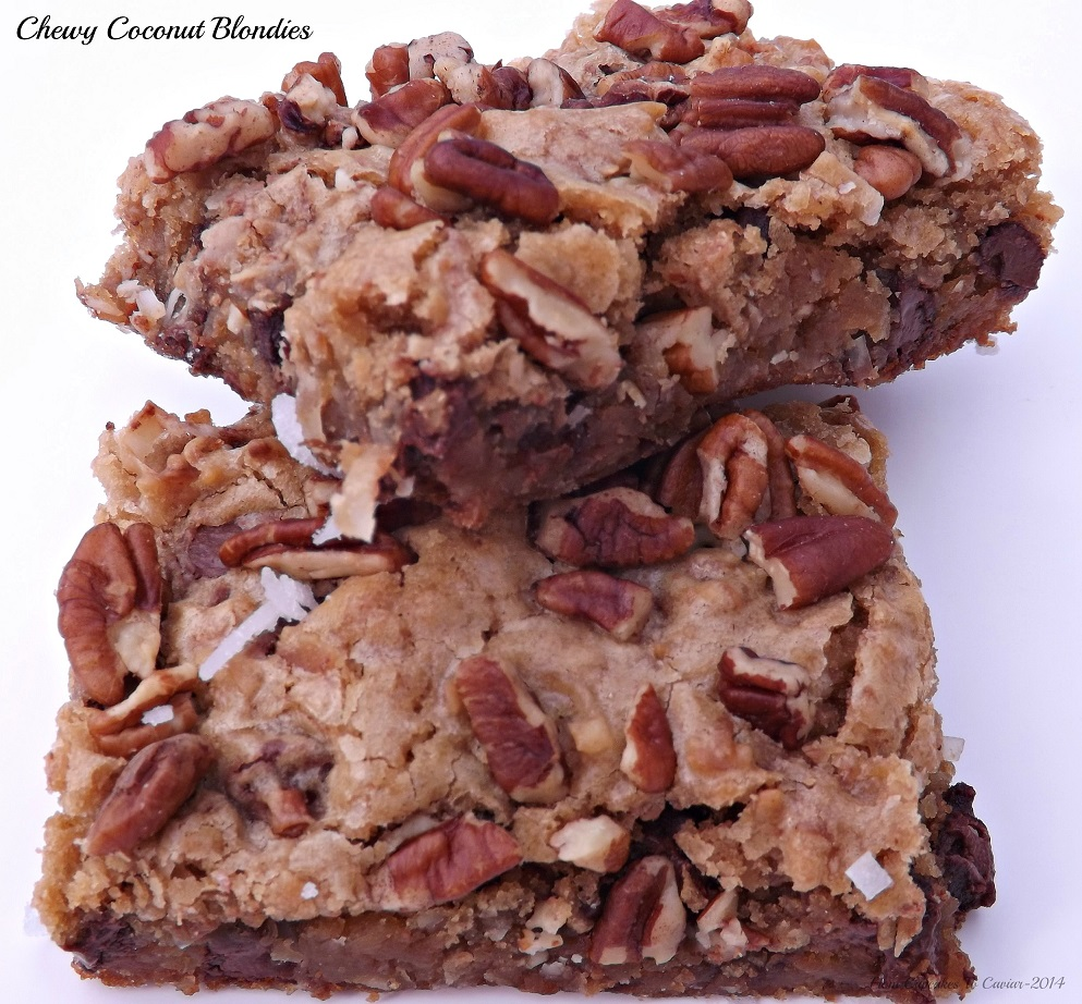 Chewy Coconut Blondies