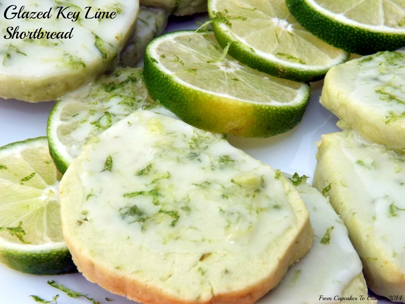 Glazed Key Lime Shortbread