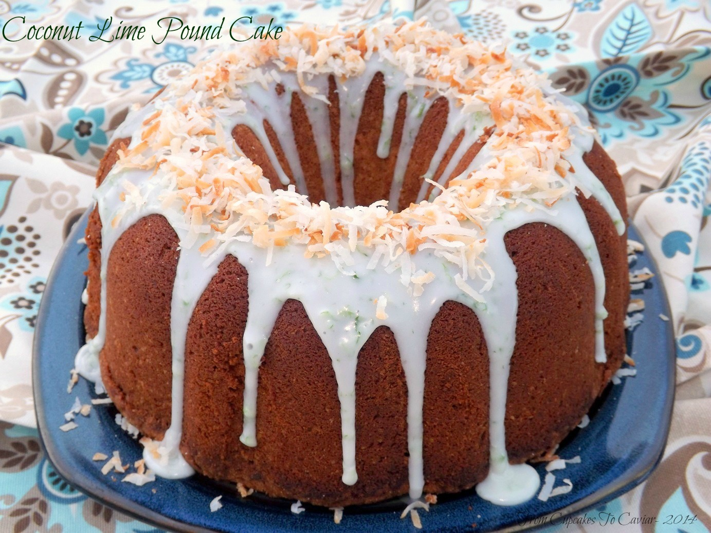Coconut Lime Pound Cake | From Cupcakes To Caviar