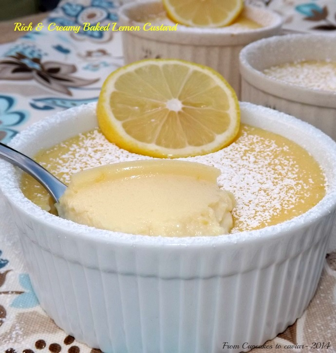 Rich & Creamy Baked Lemon Custard