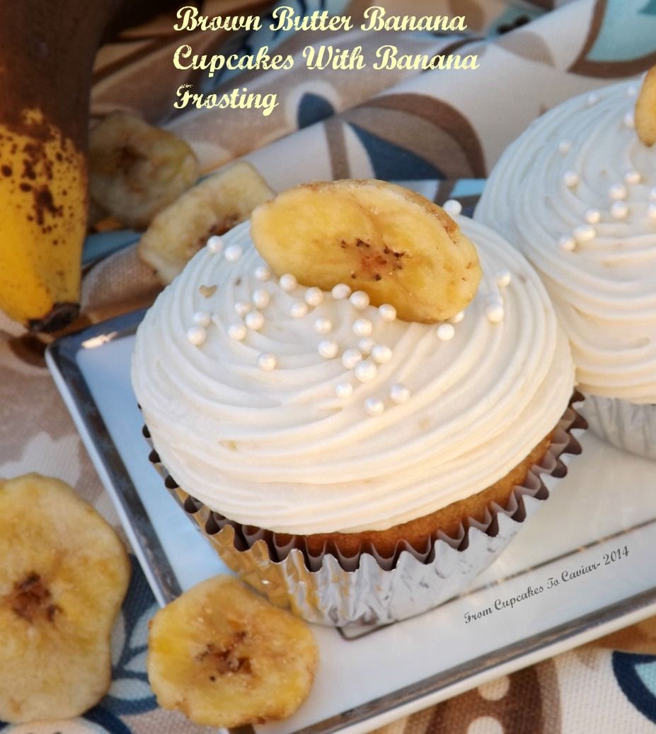Brown Butter Banana Cupcakes With Banana Frosting