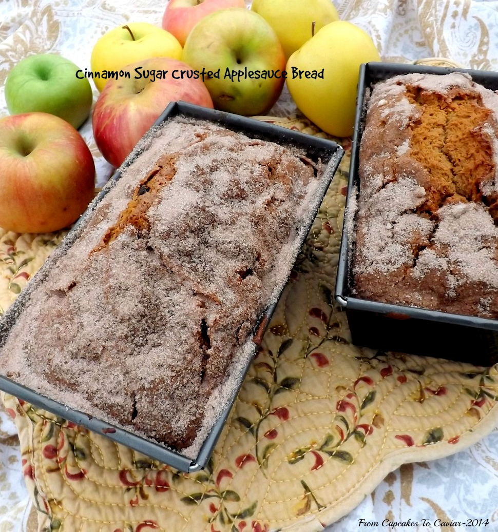 Cinnamon Sugar Crusted Applesauce Bread