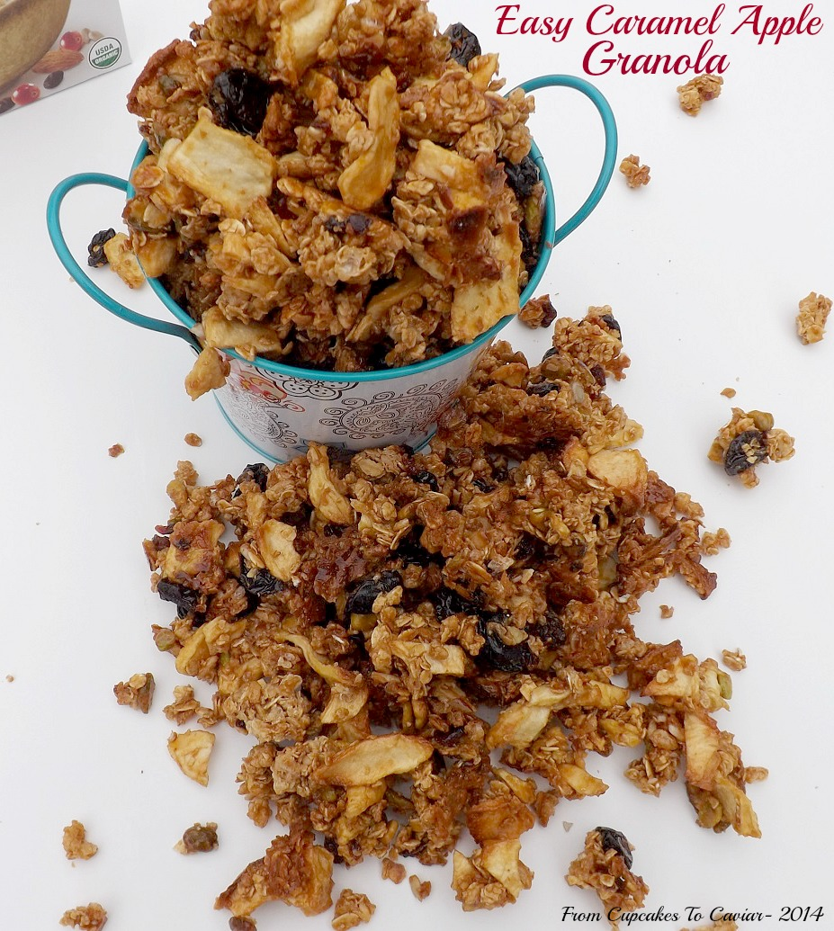 Easy Caramel Apple Granola