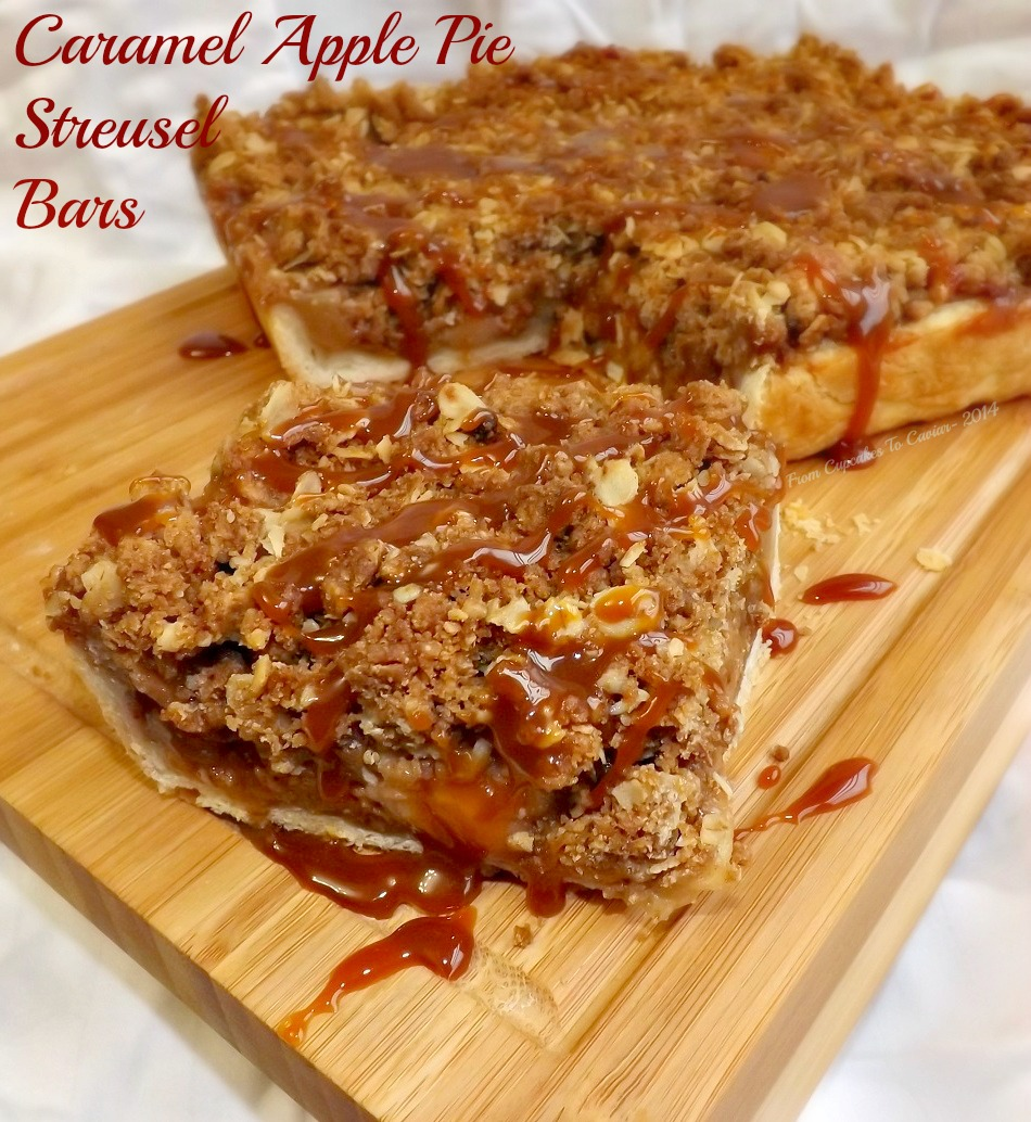 Caramel Apple Pie Streusel Bars