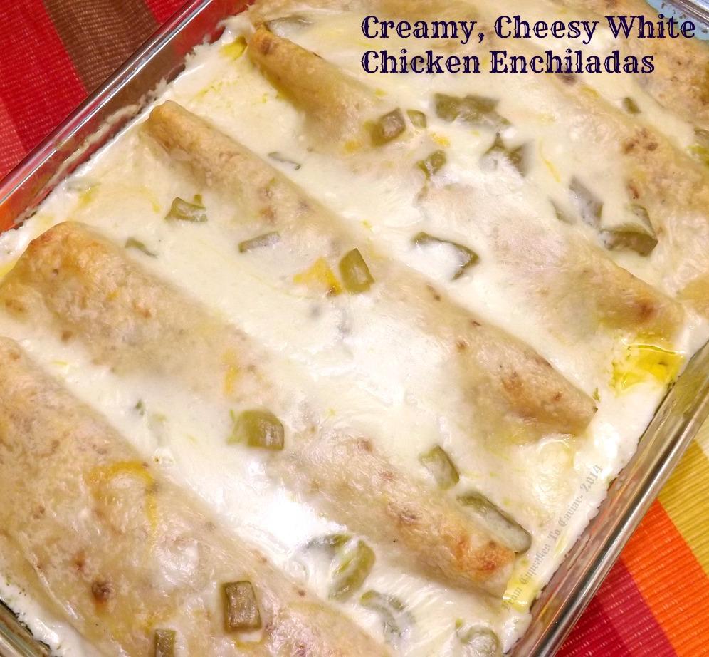 Creamy, Cheesy White Chicken Enchiladas