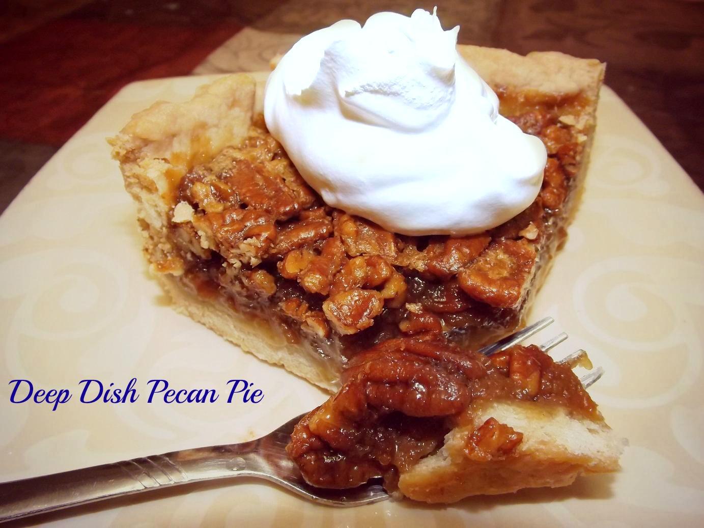 Deep Dish Pecan Pie
