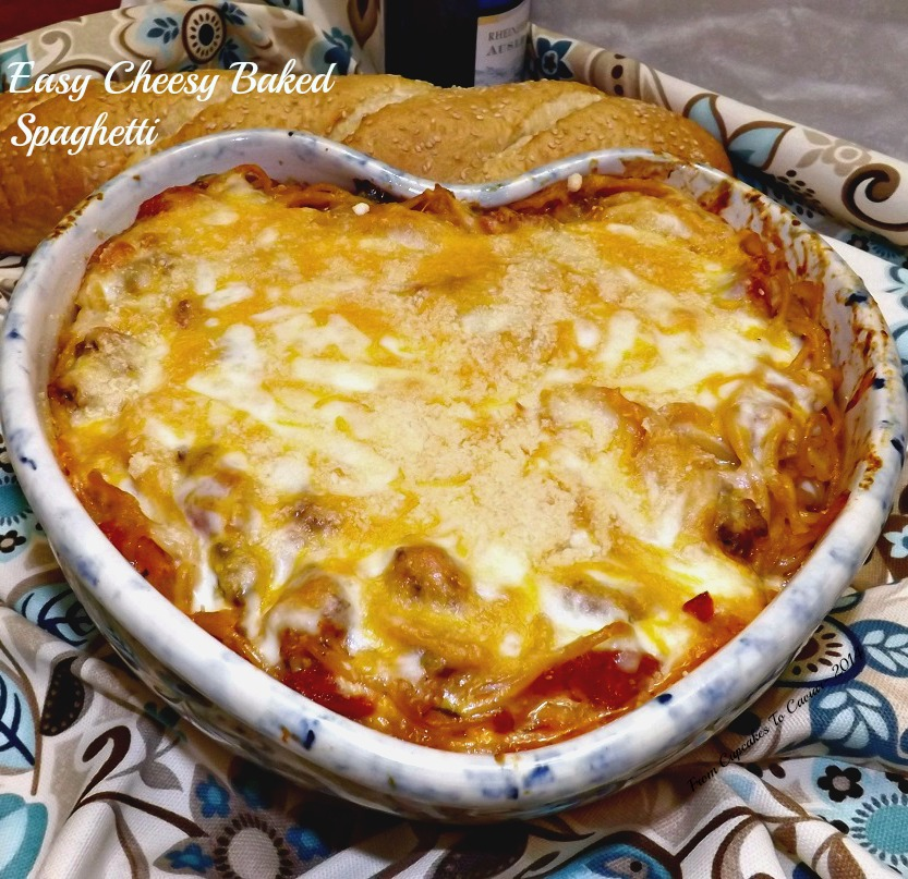Easy Cheesy Baked Spaghetti