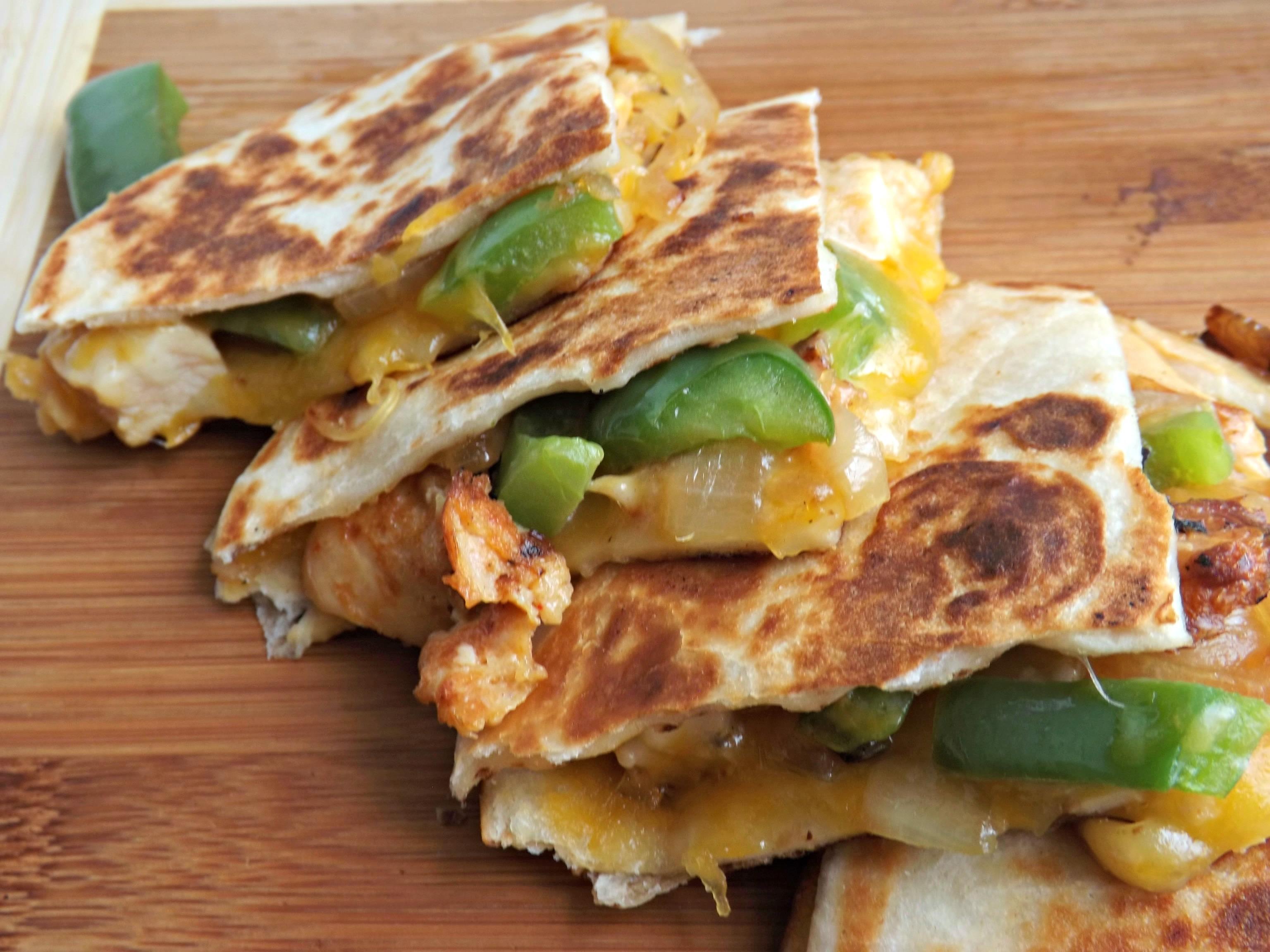 Cheesy Chicken Fajita Quesadillas