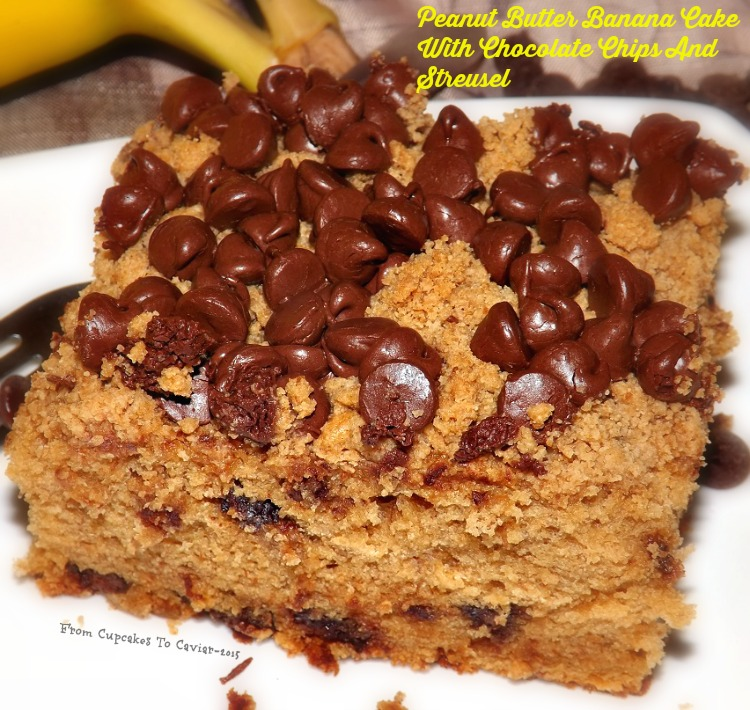 Peanut Butter Banana Cake With Chocolate Chips And Streusel