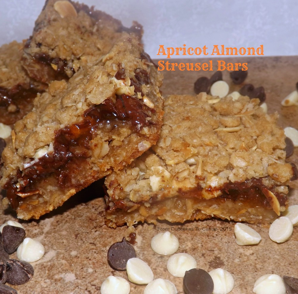 Apricot Almond Streusel Bars