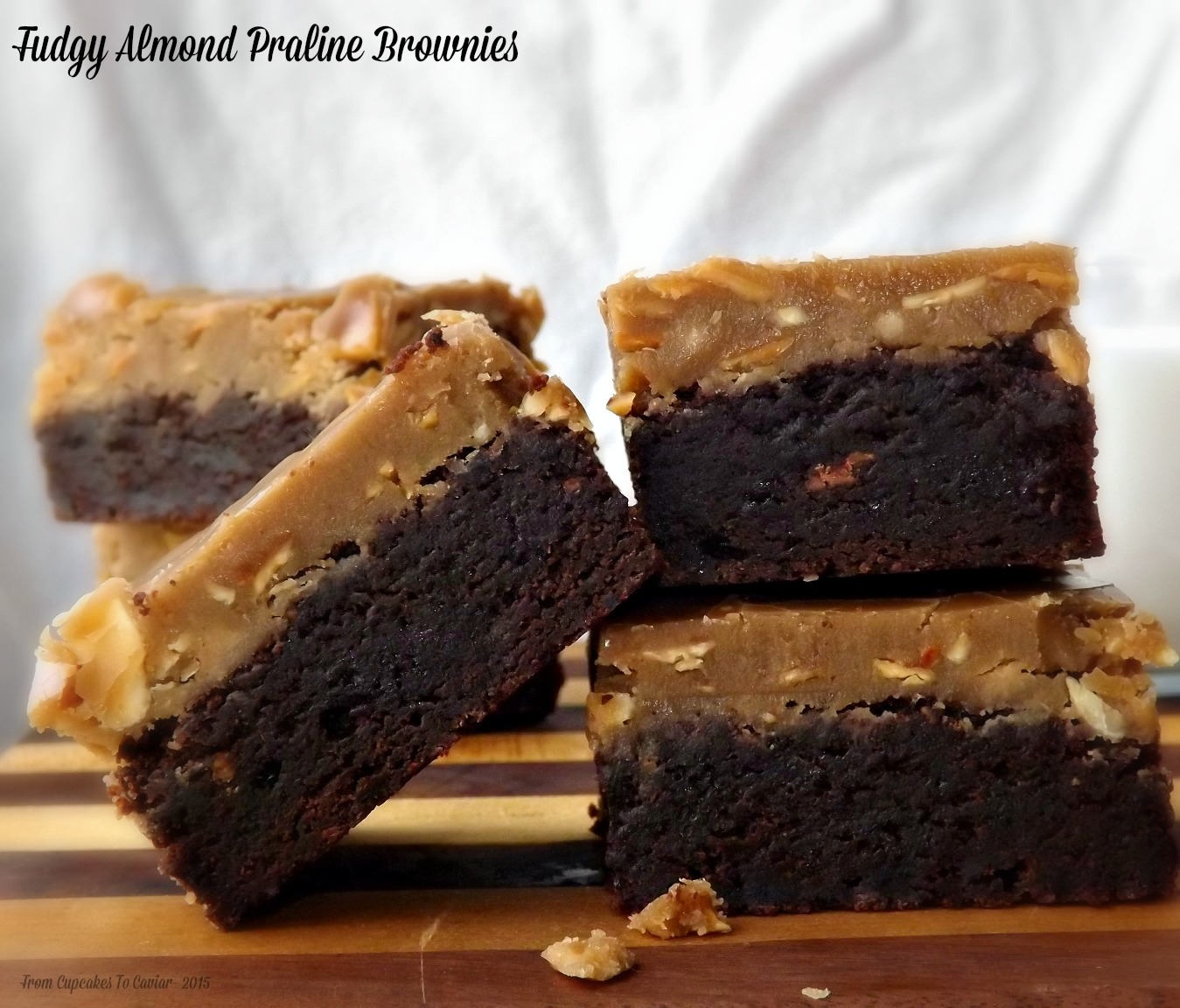 Fudgy Almond Praline Brownies