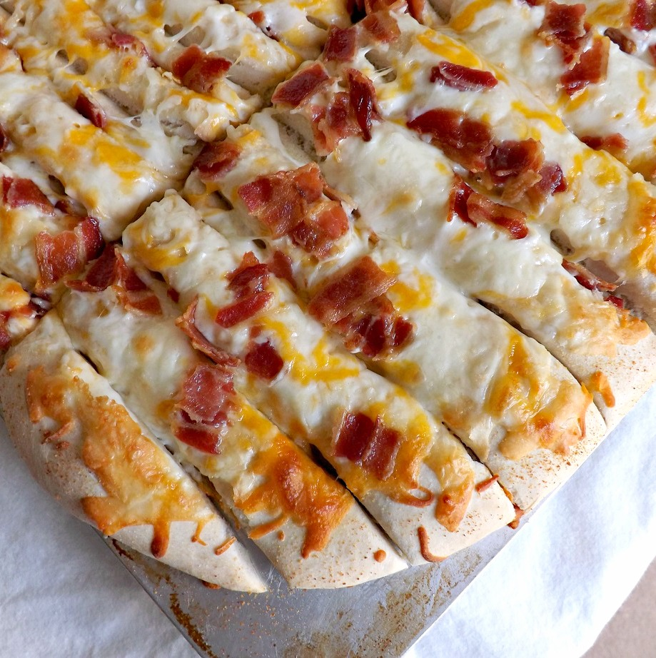 Gooey Cheese & Bacon Soft Breadsticks 3