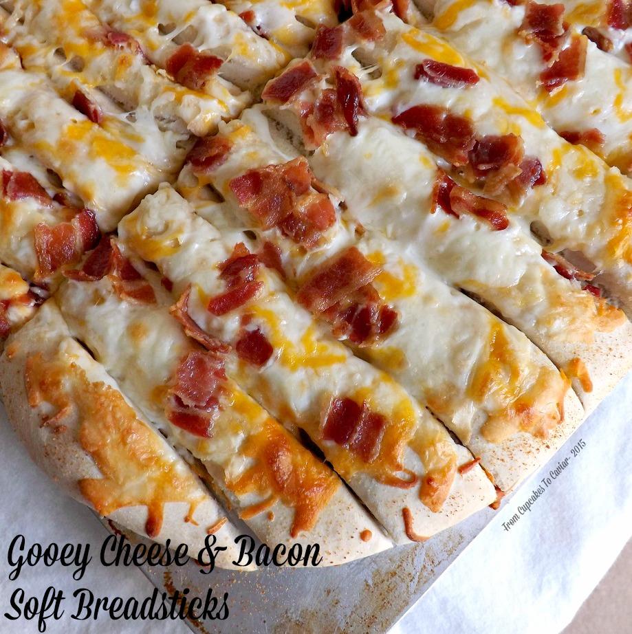 Gooey Cheese & Bacon Soft Breadsticks