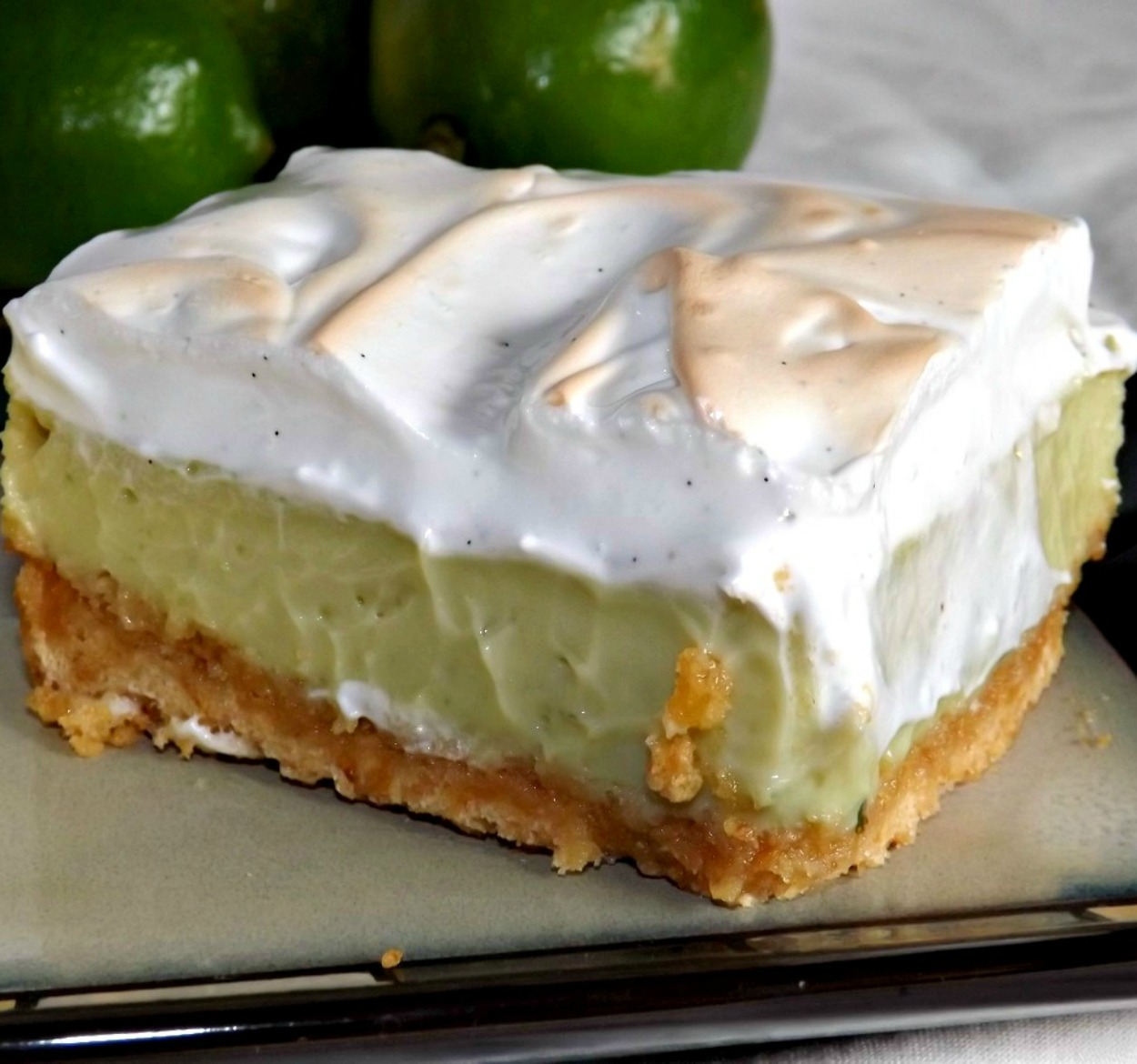 Tangy Key Lime Bars With A Vanilla Bean Marshmallow Meringue