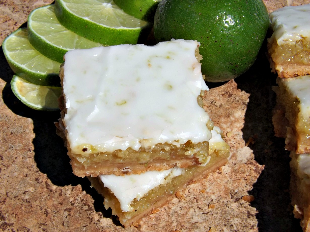 Tangy Lime Bars With A Brown Butter Shortbread Crust