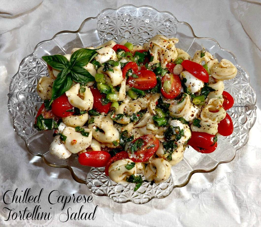 Chilled Caprese Tortellini Salad