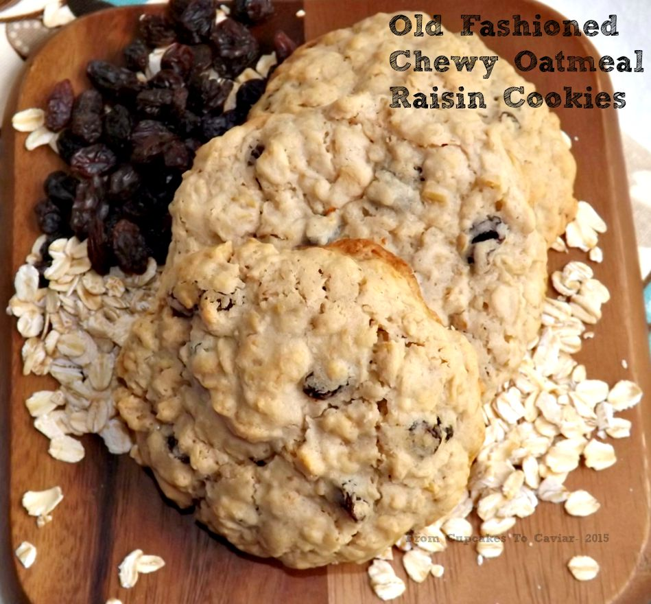 Old Fashioned Chewy Oatmeal Raisin Cookies 1