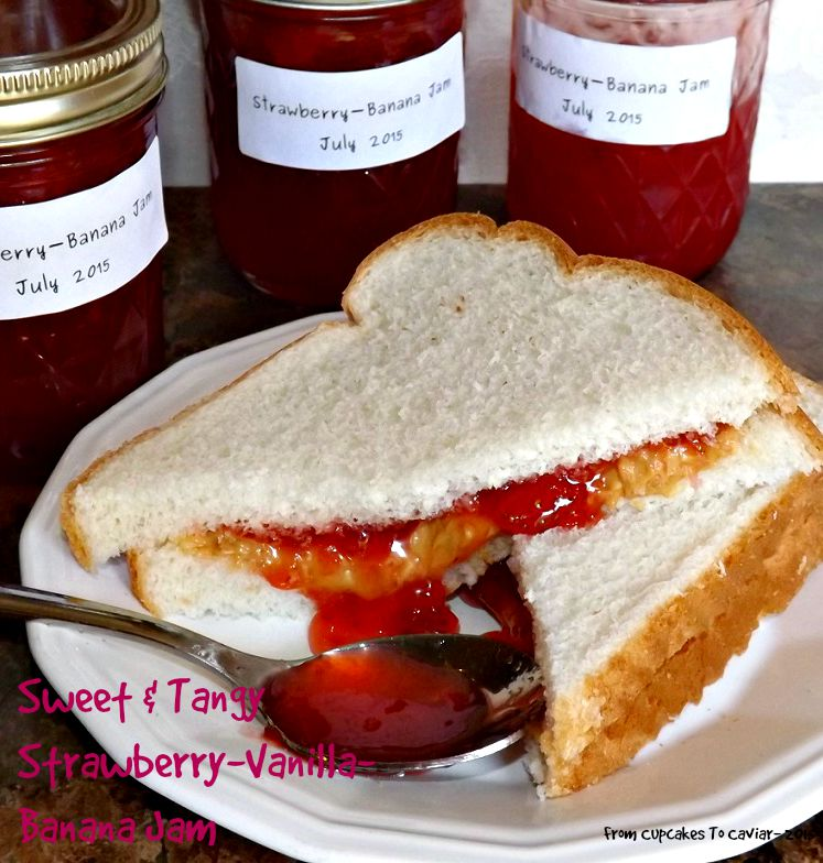 Sweet & Tangy Strawberry-Vanilla-Banana Jam