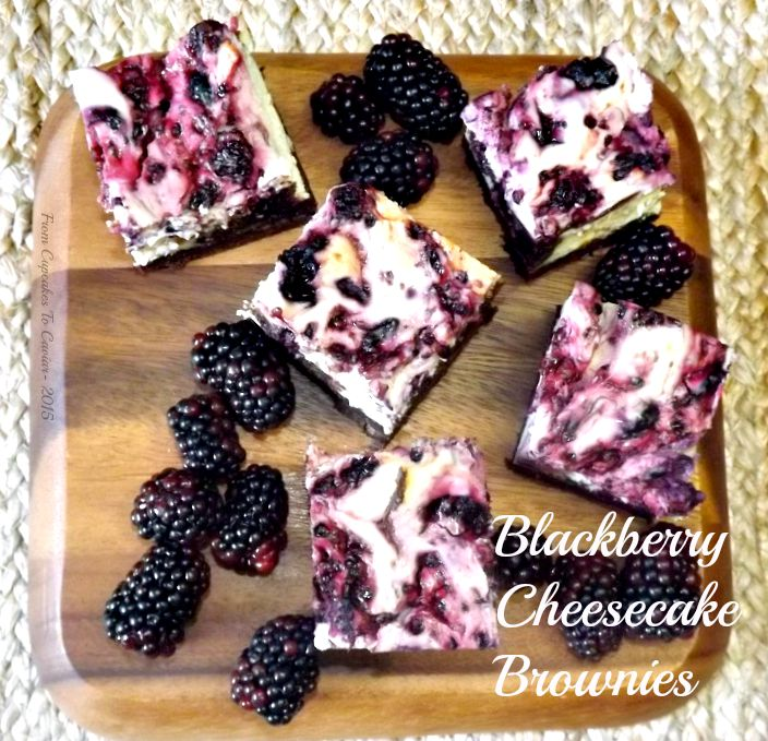Blackberry Cheesecake Brownies 1