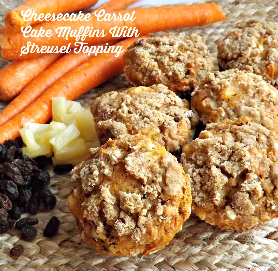 Cheesecake Carrot Cake Muffins With Streusel Topping