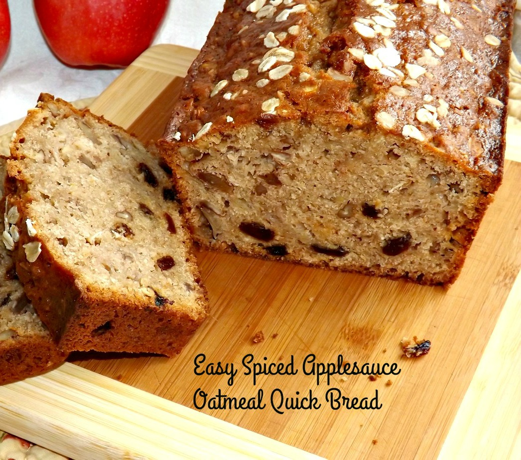 Easy Spiced Applesauce Oatmeal Quick Bread 1