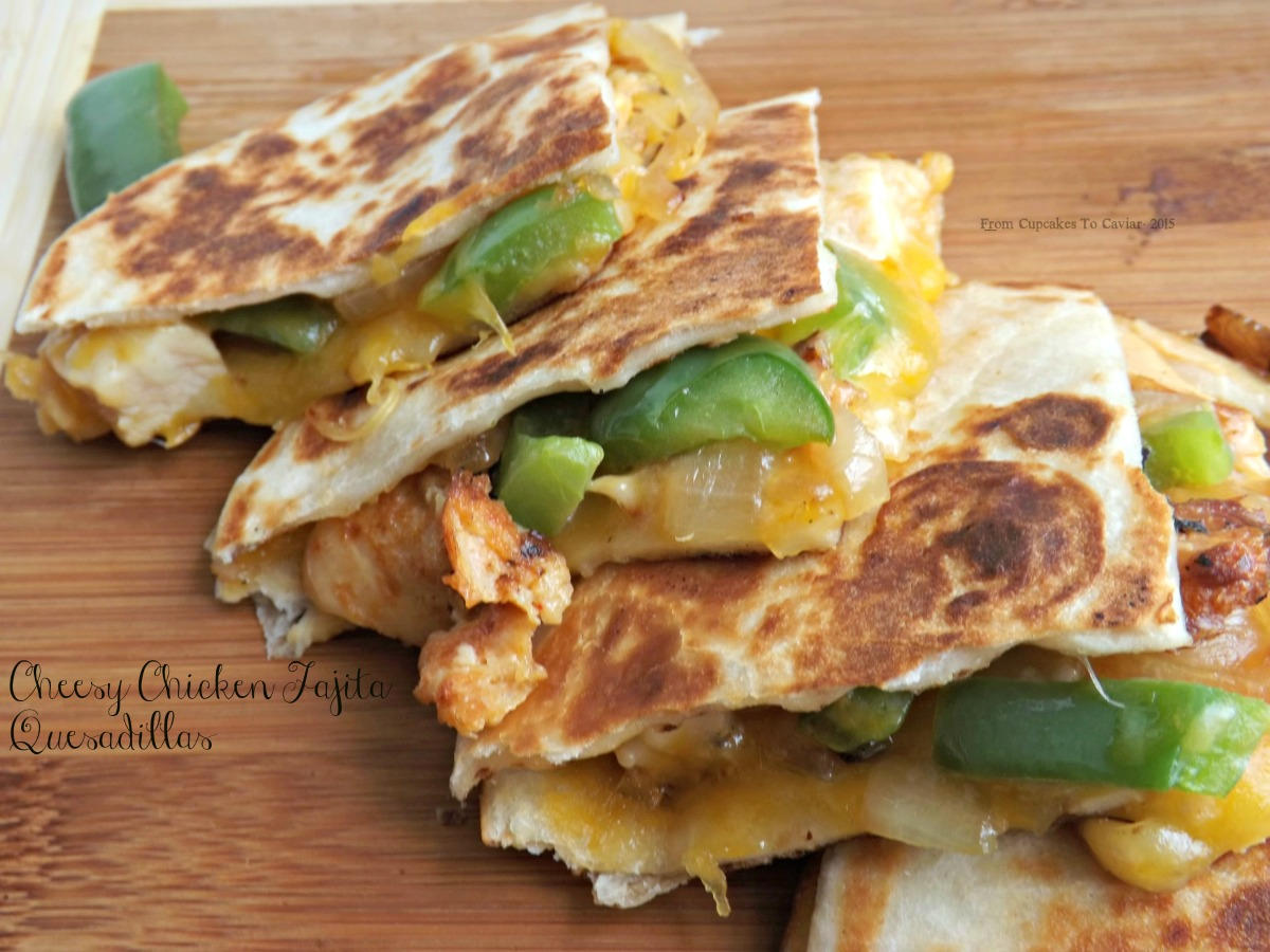 Cheesy Chicken Fajita Quesadillas