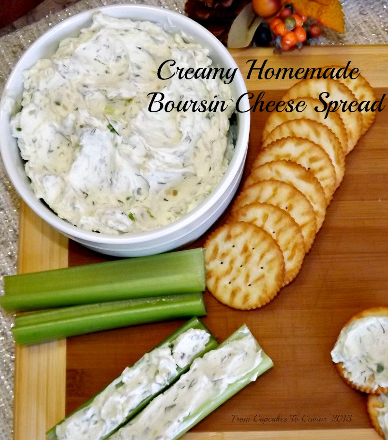 Creamy Homemade Boursin Cheese Spread